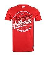 Varsity Team Players Camiseta Manga Corta Ny Authentic (Rojo)