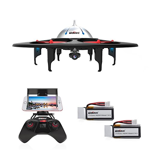 DBPOWER-UDI-U845-WiFi-FPV-UFO-RC-Drone-with-HD-Camera-24GHz-4CH-6-Axis-Gyro-RTF-Quadcopter-with-Low-Voltage-Alarm-Gravity-Induction-and-Headless-Mode-Includes-BONUS-BATTERY