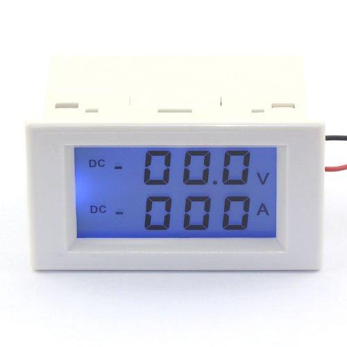 Drok Digital Readout Voltage/Curren Panel Meter 2In1 Lcd Display 0-199.9V/200...