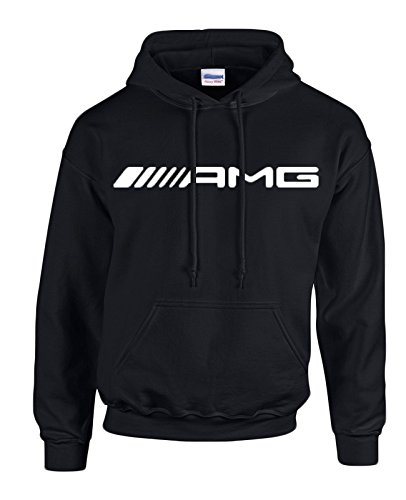 mercedes-benz-amg-white-logo-on-black-hooded-sweater-sweatshirt-hoodie-size-large