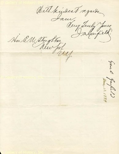 President James A. Garfield - Autograph Letter Signed 12/13/1880 front-1010499