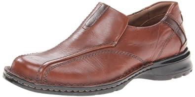 Clarks Men's Escalade Slip-On,Brown Leather,8 M