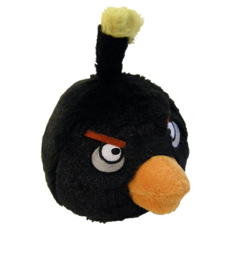 Imagen de Angry Birds de peluche 8-Inch Pájaro Negro con sonido