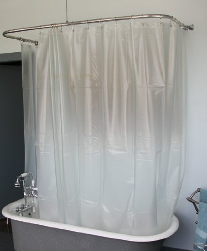 Extra Wide Vinly Shower Curtain for a Clawfoot Tub/opaque with Magnets ...
