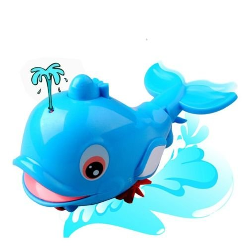 Fajiabao Baby Bath Tub Animal Toys Fun Swimming Dolphin BPA Free Bathtub Toy Water Squirter for Over 1 Year Old Kids Toddlers Fun Bathtime Great Christmas Day and Birthday Gift (One Pc) - 1