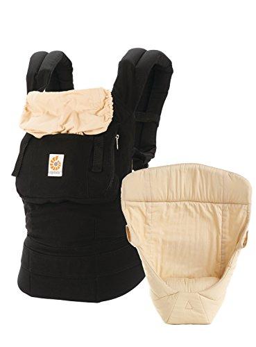Ergobaby 3 Position Original Bundle Of Joy with Easy Snug Infant Insert - Black/Camel