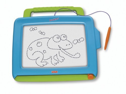 Doodle Pro Classic Is The Magnetic Drawing Toy That Best Delivers On Durability And Drawing Area. - Fisher-Price Doodle Pro Classic Blue