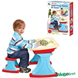Sunshine Big Size Learning Table Chair With White Board, Multi Skill Educational Table And Chait