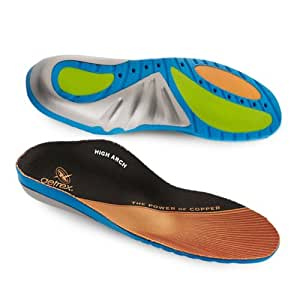 Aetrex Custom Select Series High Arch Orthotics Shoe Inserts for Men and Women - Men's 10