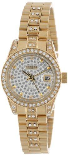 Akribos XXIV Women's AK487YG Diamond Quartz Bracelet Watch