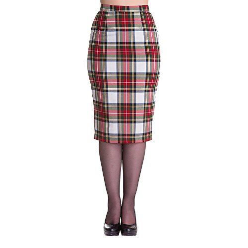 Longer Style Tartan Skirt (ideal for punk) Sizes XS to XL