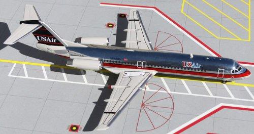 1: 200 ジェミニジェット US 航空 Fokker 100 Bare Metal US Air Colors (並行輸入)