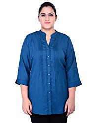 Oxolloxo Plus Size Blue Shirt