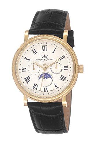 Yonger & Bresson HCP 1685/02 - Orologio da polso da uomo, cinturino in pelle colore nero