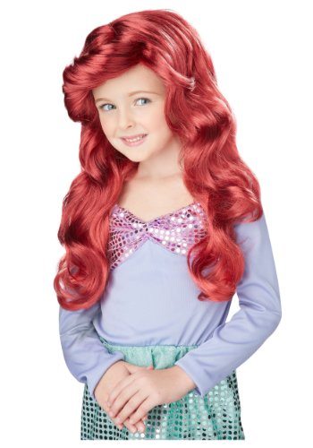 Little Mermaid Wig (Red) Child Accessory (Red Mermaid Wig compare prices)