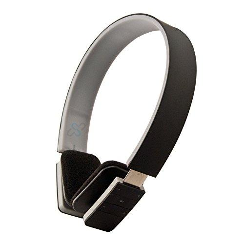 HFTEK Bluetooth stereo Headset Handy Kopfhörer für iPhone, iPad, Samsung, alle Handys, PC, Notebook, Voip, Skype LC-8200 (Schwarz)