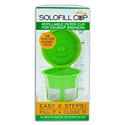 SCS Solo-fill Reusable & Refillable Single Serve Cup for Keurig® Brewers
