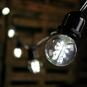 Philips Clear Globe Led String Lights : Amazon.com : Commercial LED Globe String Lights, 100 Foot Black Wire, Cool White : Patio, Lawn ...