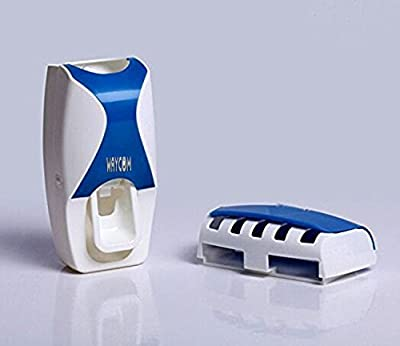 WAYCOM Dust-proof Toothpaste Dispenser Toothpaste Squeezer Kit (Blue) by WAYCOM