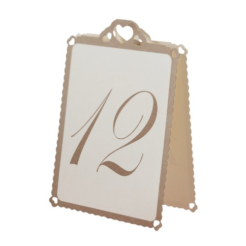 ginger-ray-ivory-gold-heart-table-tent-numbers-1-12-great-for-a-wedding-or-party-event