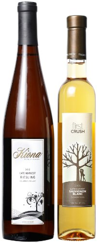 Kiona Vineyards And Winery Late Harvest Mixed Pack, 1 X 750 Ml And 1 X 375 Ml