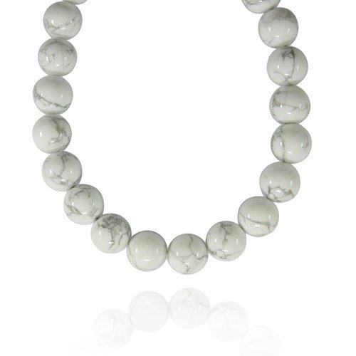 16mm Round Howlite Bead Necklace, 60