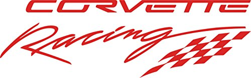 Chevy Corvette Racing Decal (Red) (Corvette Racing Decal compare prices)