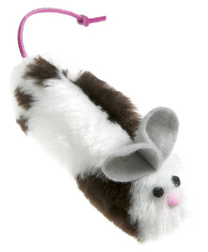 West Paw Design Mouse Catnip-Filled Cat Toy with Bell, Cow