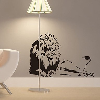 animal-lions-home-decal-wall-stickers-black