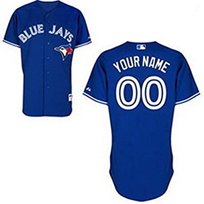 SuJe Men's Toronto Blue Jays Custom Jersey Alternate Royal Blue Size S-3XL