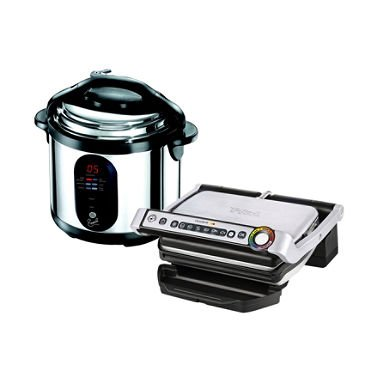 T-Fal OptiGrill w/ Bonus Emeril Pressure Cooker