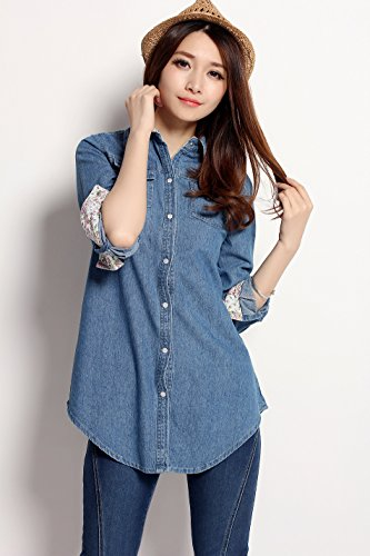 Chariot Trading - Women Jeans Blouse Tops (Style : 1 | Size : S)