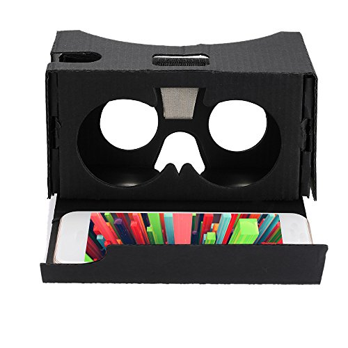 "Wemore(TM)Portable Head-Mounted DIY 3D Glasses Google Cardboard V2.0 3D VR Virtual Reality Video Glasses for Up to 6"" Smart Phones"