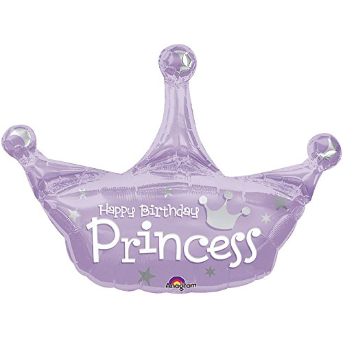 Mayflower Distributing Unisex Adult Princess Jumbo Foil Balloon Black Medium