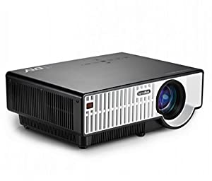 FastFox PRW300 1280x800 LED LCD 2800 Lumen Full HD Projector Multimedia Beamer Protable Home Proyector HDMI USB Audio in RCA VGA YPbPr S-Video Video Black and White Color by FastFox