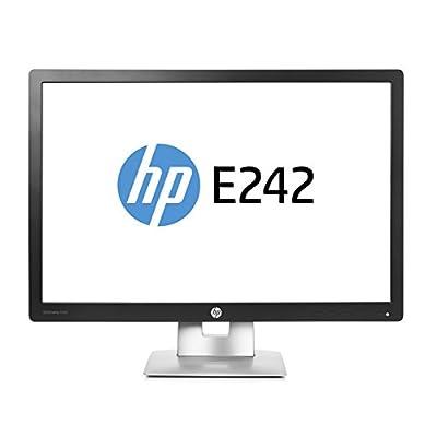 HP M1P02A8#ABA EliteDisplay E242 24'' 1080p Full HD LED-Backlit LCD Monitor, Black/Silver