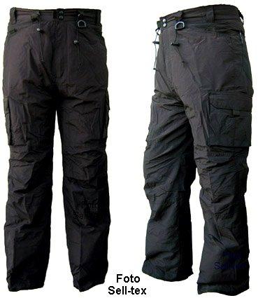 Skihose / Snowboardhose S - XXL für Damen und Herren in grau, sand oder schwarz (schwarz, XL)