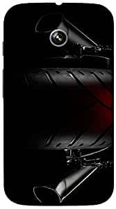 Timpax protective Armor Hard Bumper Back Case Cover. Multicolor printed on 3 Dimensional case with latest & finest graphic design art. Compatible with Motorola Moto -E-1 (1st Gen )Design No : TDZ-24590