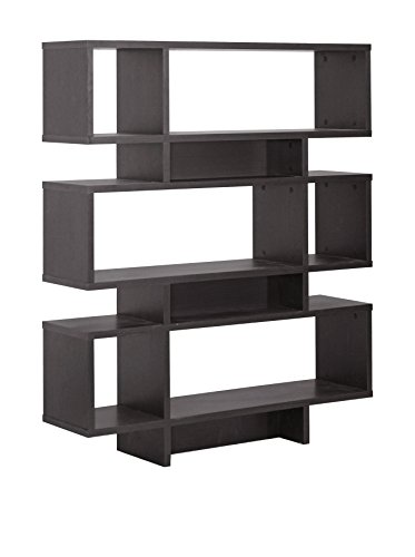 Baxton Studio Fp-6Ds-Shelf (3A) Cassidy 6-Level Modern Bookshelf, Dark Brown