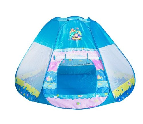 "Zuwit Pop Up Baby & Kids Play Tent House 70"" Large Space Blue"