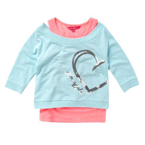 Pineapple Girl's Aqua Sweater And Vest Set