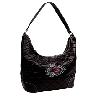 NFL Sport Noir Quilted Hobo Purse by Littlearth