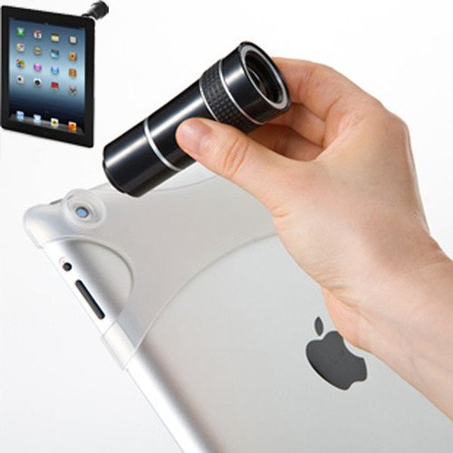 10X Zoom Telescope Camera Lens With Case For Ipad 2 3 New Ipad (White)