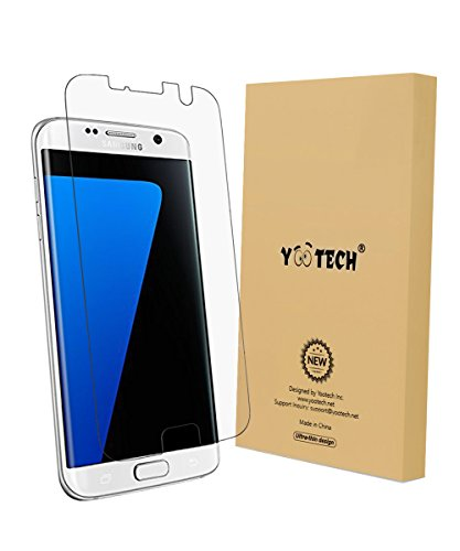 Galaxy S7 Edge Screen Protector,YOOTECH[Anti-Lifting] [Full Coverage][Case Friendly][Anti-Scratch][Reusable] Wet Applied Screen Protector for Samsung Galaxy S7 Edge Clear HD Anti-Bubble Film - Lifetime Warranty