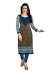 CHINTAN TEXTILES Ethnicwear Women's Unstitched Kurti Fabric Multi-Coloured Free Size