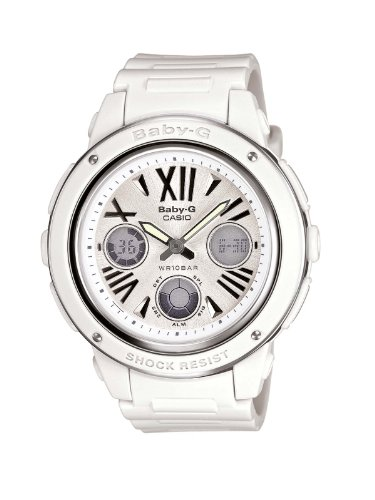 BABY-G Women's Quartz Watch with White Dial Analogue - Digital Display and White Resin Strap BGA-152-7B1ER