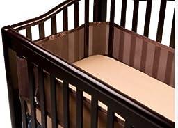 BreathableBaby Mesh Crib Liner- Bison Brown