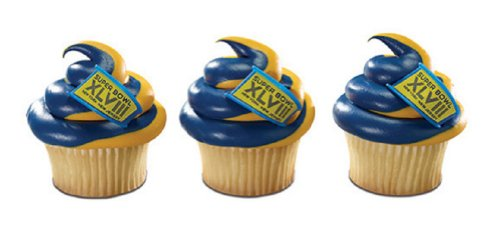 NFL Super Bowl XLVIII Cupcake Rings 12 Pack at Amazon.com