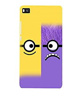 printtech Cartoon Glasses Pattern Back Case Cover for Huawei P8