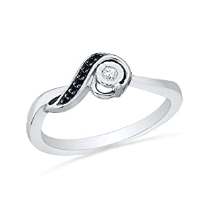 sterling silver black and white